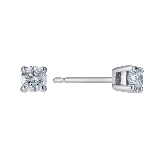 Platinum 0.33ct diamond solitaire earrings - Product number 9246126