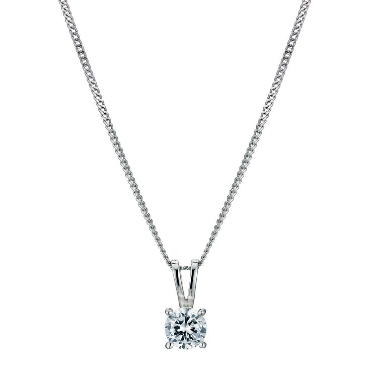 Platinum 0.50ct diamond solitaire pendant - Product number 9246169