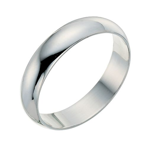 9ct white gold 4mm wedding ring - Product number 9248803