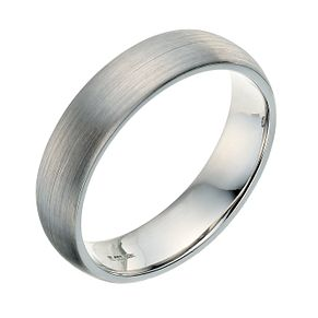 Palladium 950 5mm satin court ring - Product number 9250603