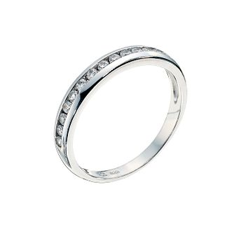 Silver channel set cubic zirconia ring - Product number 9252576