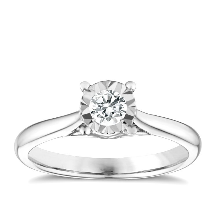9ct White Gold 025ct Diamond Illusion Solitaire Ring. Unidirectional Rings. Heart Pandora Rings. Queen's Engagement Rings. Space Themed Wedding Rings. Trinity Wedding Rings. Scary Rings. Two Finger Rings. Desain Wedding Rings