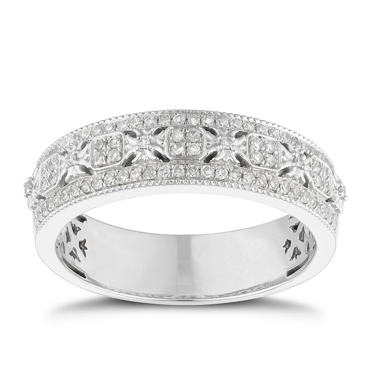 18ct white gold 0.25ct diamond ring - Product number 9265198