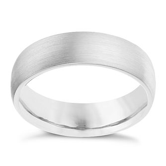 Palladium 950 6mm satin court ring - Product number 9268707