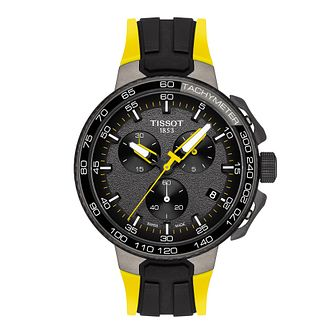 Tissot T-Race Men's Yellow Rubber Strap Watch - Product number 9269061