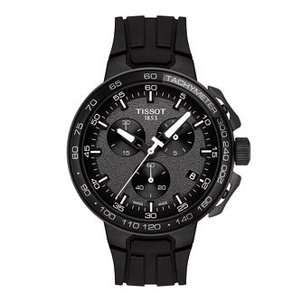 Tissot T Racer Men's Black Rubber Strap Watch - Product number 9269088