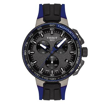 Tissot T Racer Men's Black and Coloured Rubber Strap Watch - Product number 9269568