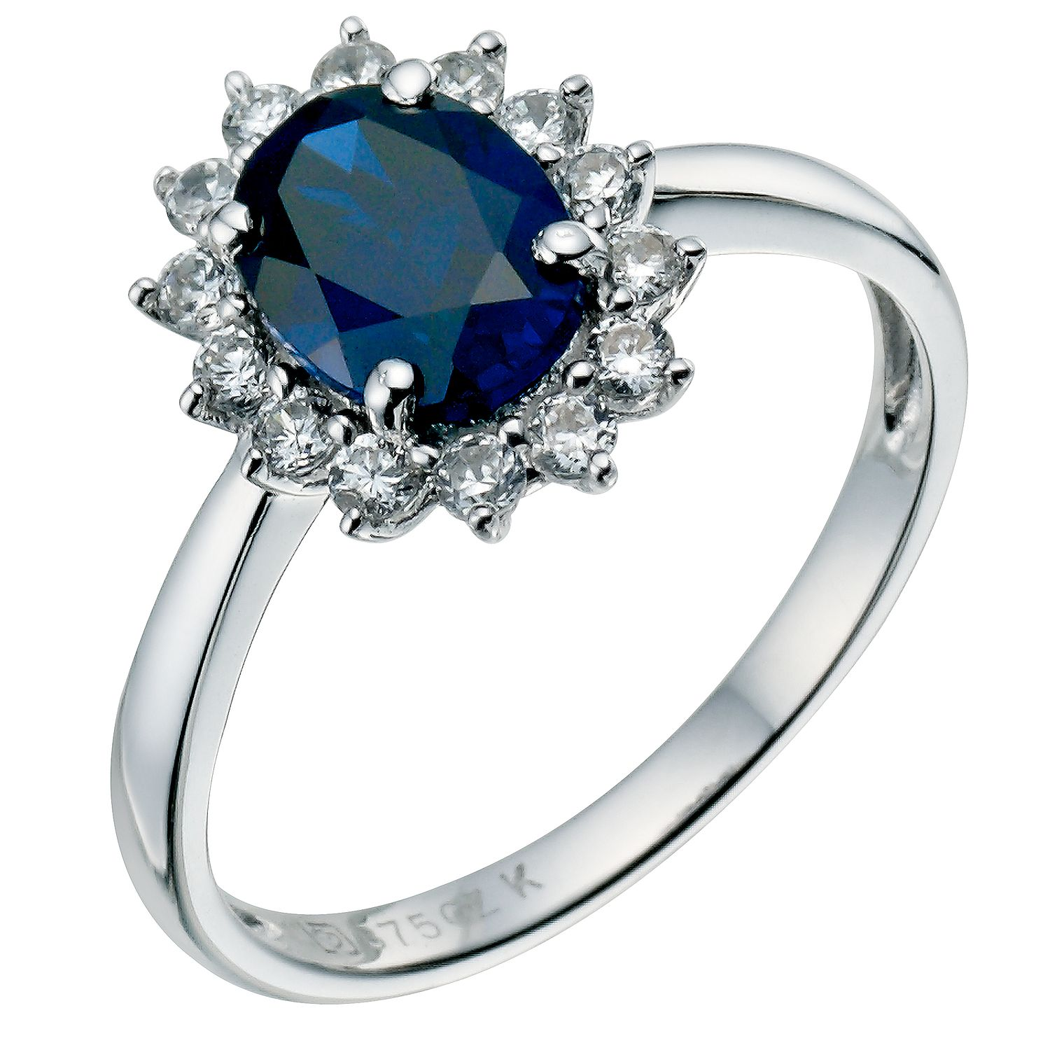 pointe ring and stone strand blue dark rings products triad engagement a sapphire