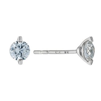 9ct white gold 4mm Swarovski Zirconia stud earrings - Product number 9274197