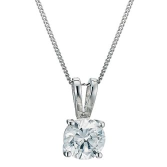 18ct white gold 0.75ct diamond pendant - Product number 9278192