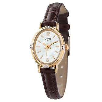 Limit Brown Strap Oval Dial Watch - Product number 9285490