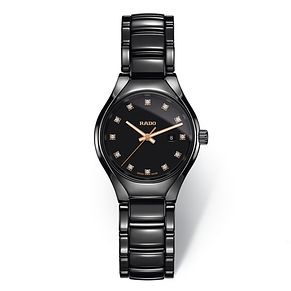 Rado True Ladies Black Ceramic Bracelet Watch - Product number 9299246