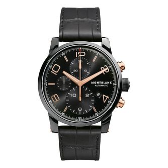 Montblanc Timewalker men's black leather strap watch - Product number 9299297
