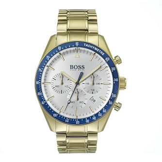 Hugo Boss Men's Yellow Gold Plated Trophy Sport Watch - Product number 9301240
