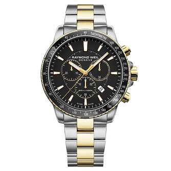 Raymond Weil Men's Tango Two Tone Black Bracelet Watch - Product number 9302794