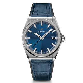 Zenith Defy Men's Blue Leather Strap Watch - Product number 9303502