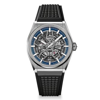 Zenith Deny Men's Skeleton Black Strap Watch - Product number 9303804