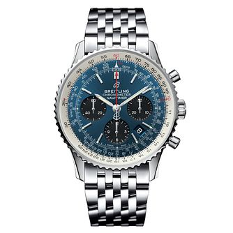 Breitling Navitimer 1 43mm Men's Blue Chronograph Watch - Product number 9303863