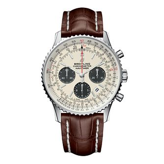 Breitling Navitimer 1 Men's Brown Leather Strap Watch - Product number 9303871