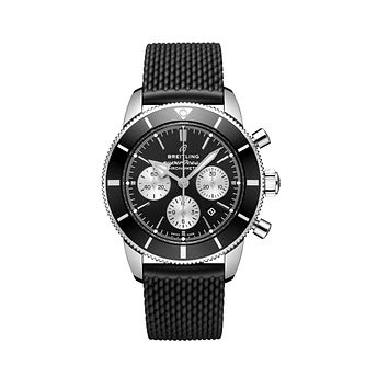 Breitling Superocean II Men's Black Rubber Strap Watch - Product number 9303944