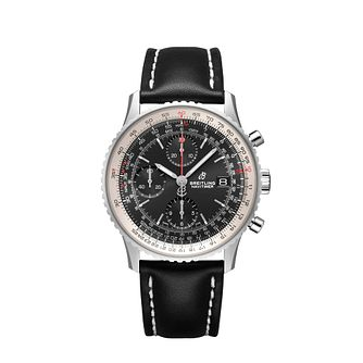 Breitling Navitimer 41 Chronograph Black Strap Watch - Product number 9304223