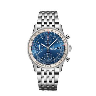 Breitling Navitimer 1 41mm Men's Blue Chronograph Watch - Product number 9304231
