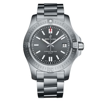 Breitling Colt 41mm Men's Grey Bracelet Watch - Product number 9304274