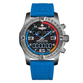 Breitling Exospace B55 Men's Titanium Blue Strap Watch - Product number 9304428