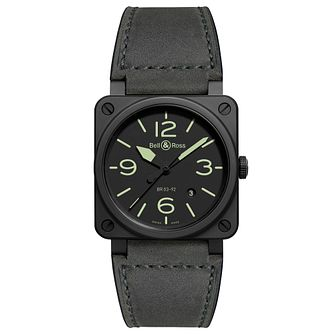Bell & Ross Br03-02 Men's Black Strap Watch - Product number 9306420