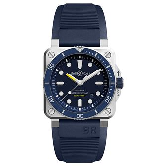 Bell & Ross BR-03 Diver Blue Strap Watch - Product number 9306447