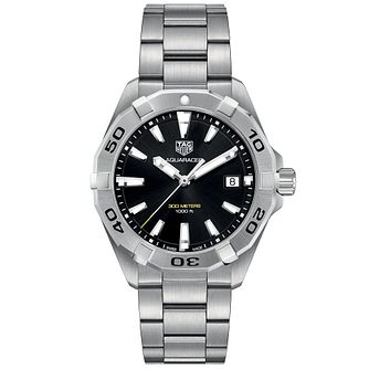 TAG Heuer Stainless Steel Aquaracer Black Bracelet Watch - Product number 9306498