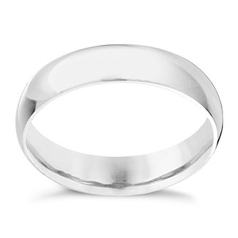 9ct white gold extra heavy D-shape 6mm ring - Product number 9310258