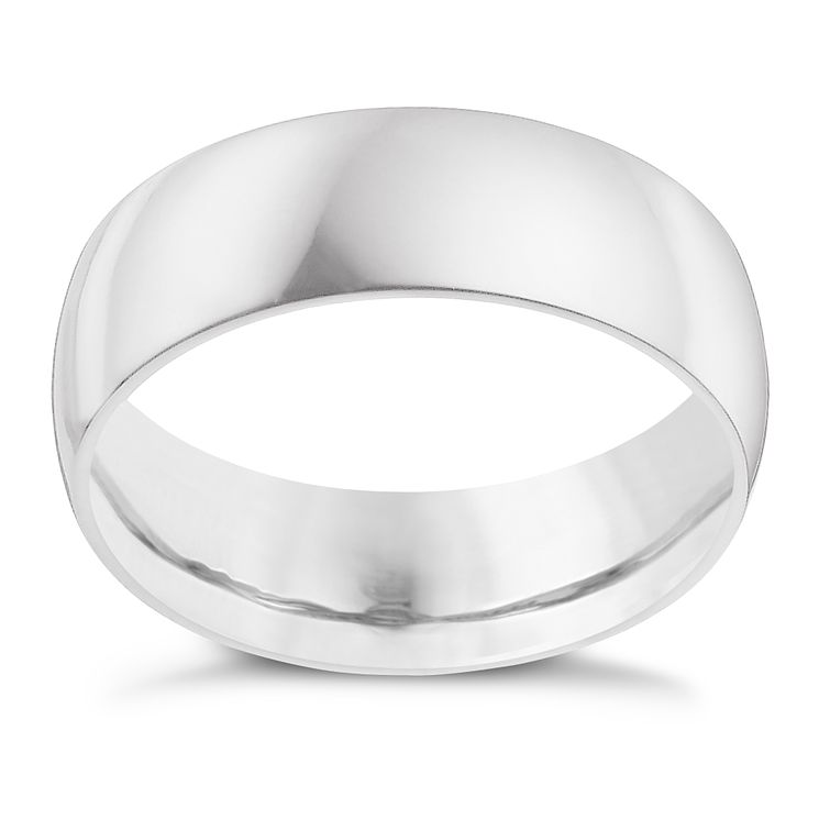Platinum 8mm extra heavy court ring - Product number 9314555