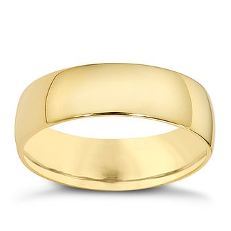 18ct yellow gold extra heavy court 7mm ring - Product number 9317910