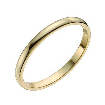 18ct yellow gold 2mm extra heavy D shape ring - Product number 9318771