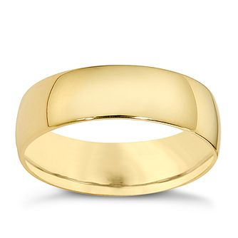18ct yellow gold extra heavy court 8mm ring - Product number 9319654