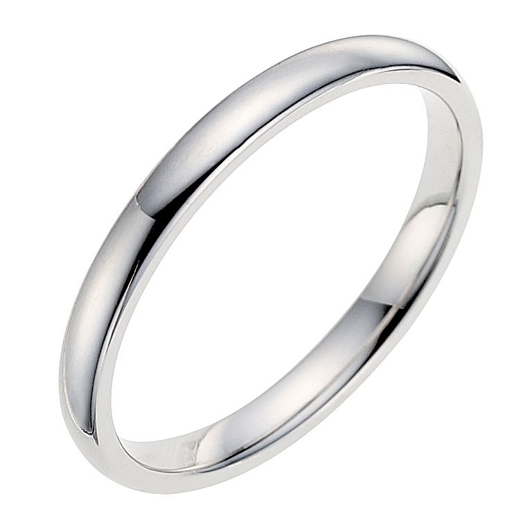 18ct white gold 2mm wedding ring - Product number 9320865