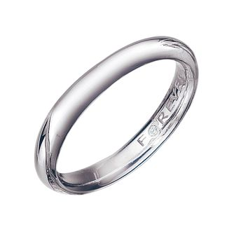 9ct White Gold 3mm Forever Diamond Wedding Ring - Product number 9323023