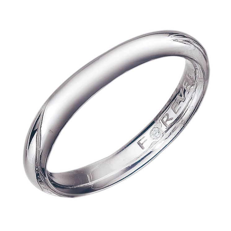 Palladium 3mm Forever Diamond Wedding Ring - Product number 9323651