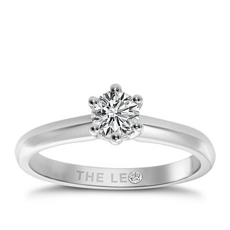 Leo Diamond 18ct white gold 2/3ct I-I1 solitaire ring - Product number 9329226