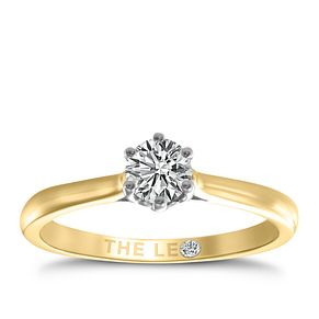 Leo Diamond 18ct yellow & white gold 0.33ct I-I1 ring - Product number 9329471