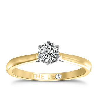 Leo Diamond 18ct yellow & white gold 1/3ct I-I1 ring - Product number 9329471