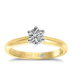 Leo Diamond 18ct yellow & white gold 2/5ct I-I1 ring - Product number 9329617