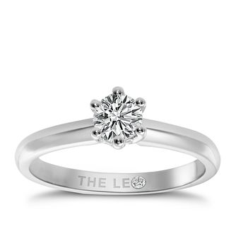 Leo Diamond platinum 2/5ct I-I1 solitaire ring - Product number 9330283