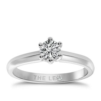 Leo Diamond platinum 0.50ct I-I1 solitaire ring - Product number 9330410