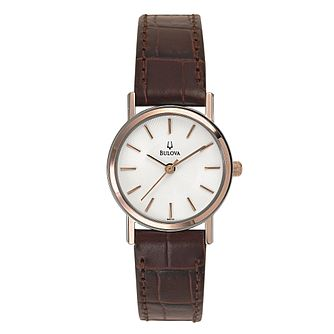 Bulova Ladies' Brown Strap Watch - Product number 9332987