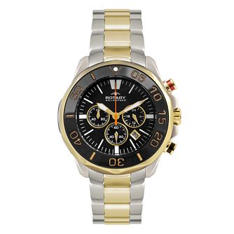 Rotary Aquaspeed Men's Chronograph Two Colour Bracelet Watch - Product number 9336400