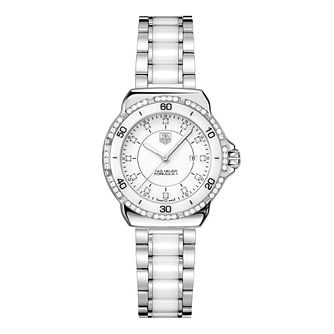 TAG Heuer Formula 1 Ladies' White Ceramic Bracelet Watch - Product number 9337385