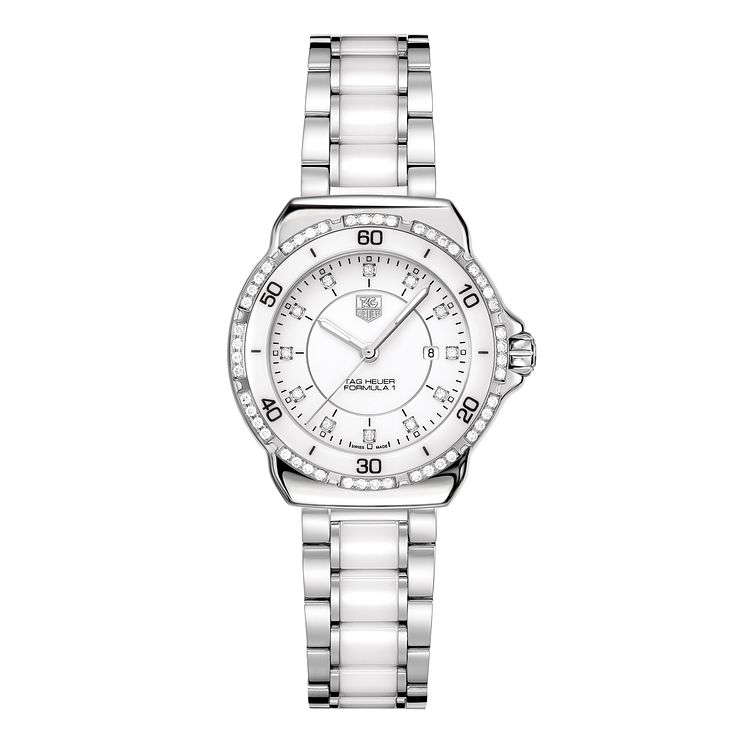 TAG Heuer F1 ladies' white ceramic bracelet watch - Product number 9337385