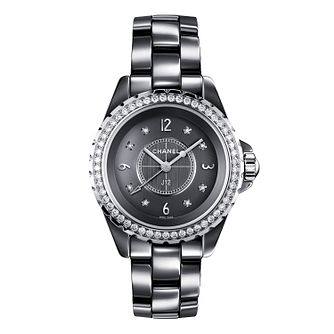 Chanel J12 Chromatic titanium ceramic diamond bracelet watch - Product number 9339574